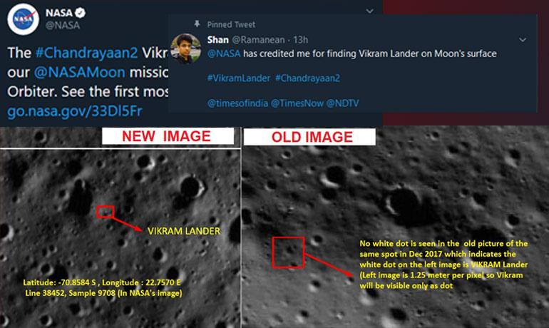 Chandrayaan-2: Chennai Techie Helps NASA Discover Vikram Lander