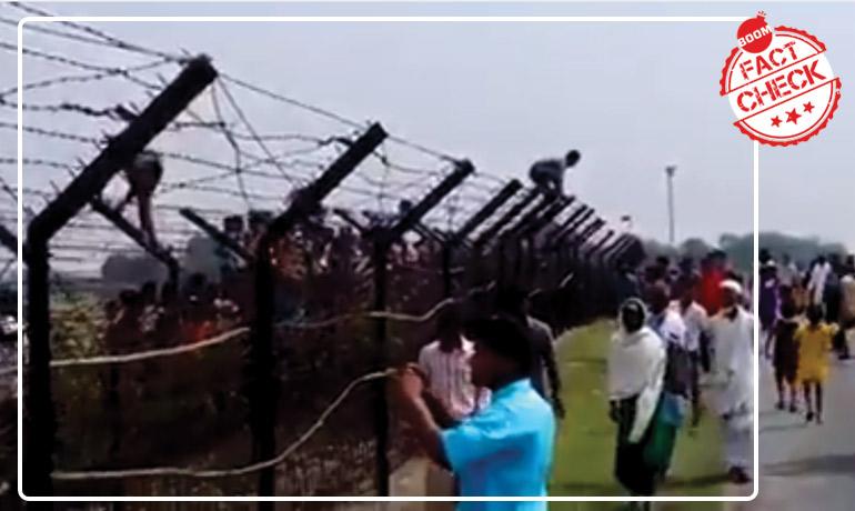 Old Video Falsely Shared As Bangladeshi Hindus Crossing India Border Post CAB