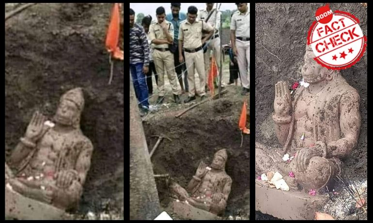 No, A Hanuman Idol Was Not Found At A 5-Acre Plot In Ayodhya