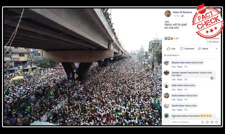 Sea Of Protesters At Mumbai