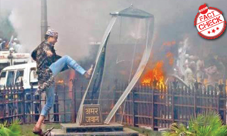 CAB Protests: 2012 Photo Of Muslim Youth Desecrating Amar Jawan Memorial Revived