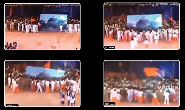 School Students Re-enact Babri Masjid Demolition; RSS leader Booked In Karnataka