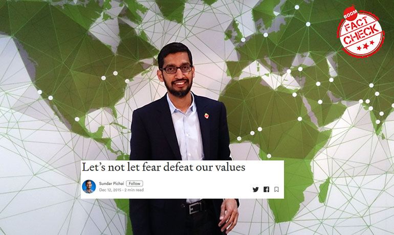Sundar Pichai Quote On Muslims Revived