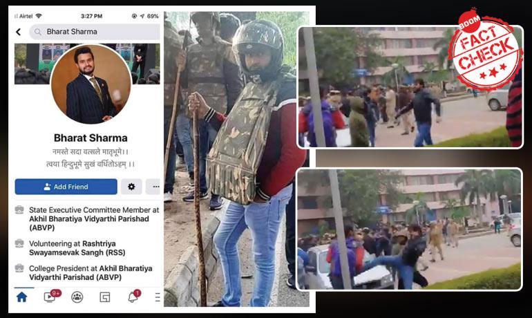Did ABVPs Bharat Sharma Pose As Delhi Cop? A FactCheck