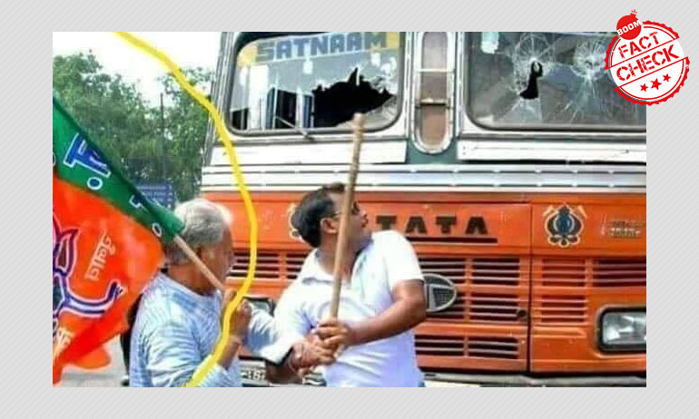 2012 Photo Of BJP Workers Vandalising A Truck Revived