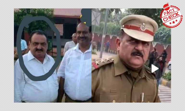 Delhi Cop Patrolling During Protest Is A RSS Worker? A FactCheck