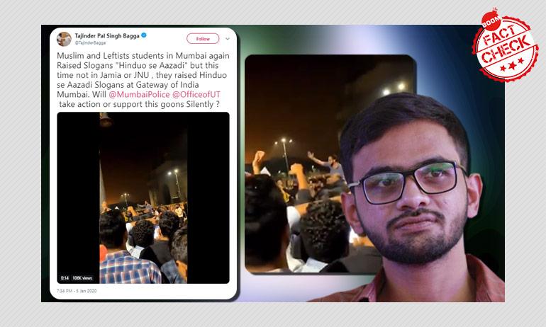 "Did Umar Khalid Raise ""Hinduon Se Azaadi"" Slogan At Mumbai Protest?"