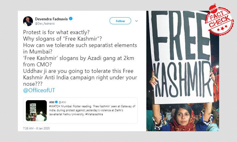 """""""Free Kashmir"""" Poster Lands Mumbai Writer In Political Soup"""