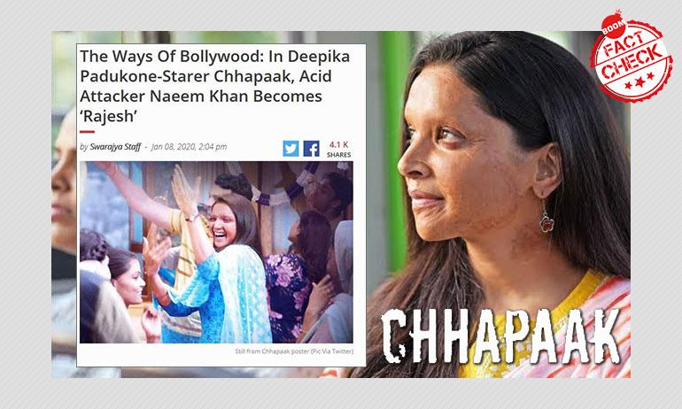 Swarajya Peddles Misinformation About Deepika Padukone