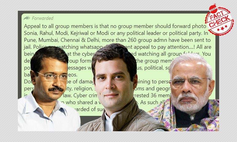 Can WhatsApp Admins Be Jailed For Posting Photos Of Modi, Kejriwal?