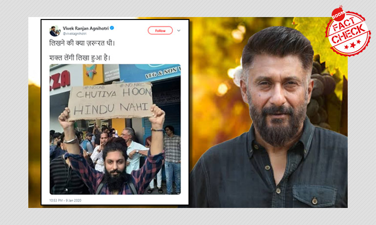 Vivek Agnihotri Posts A Doctored Image Of Anti-CAA Protester
