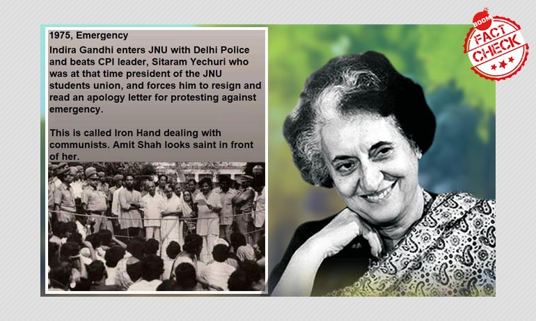 Did Indira Gandhi Force Sitaram Yechury To Resign During JNU Crisis?