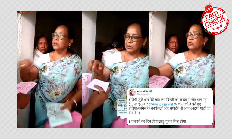 Was A BJP Candidate Caught On Video Offering A Bribe To Delhi Voters?