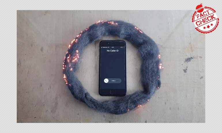 Incoming Phone Call Burns Steel Wool? A FactCheck
