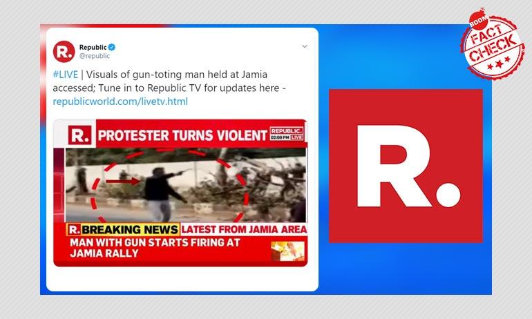 Republic Misreports Jamia Shooting, Calls Shooter Anti-CAA Protester