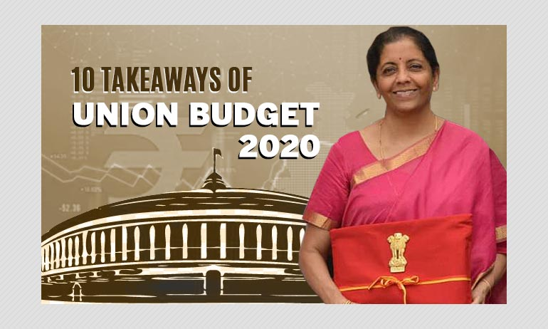 Union Budget 2020: 10 Takeaways From FM Sitharaman