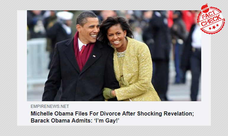 Are The Obamas Getting A Divorce? Satire Story Goes Viral
