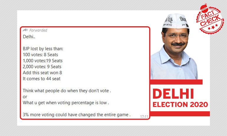 BJP Lost 36 Seats In Delhi By Close Margins? Bogus Numbers Go Viral