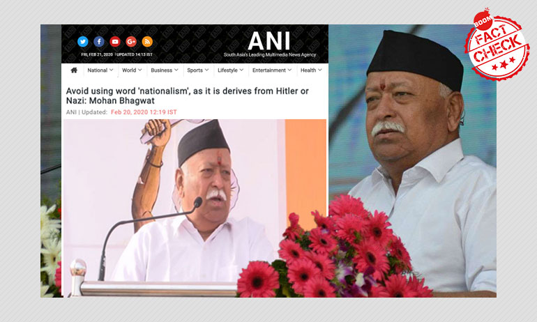 Media Misquotes RSS Chief Mohan Bhagwat On Nationalism