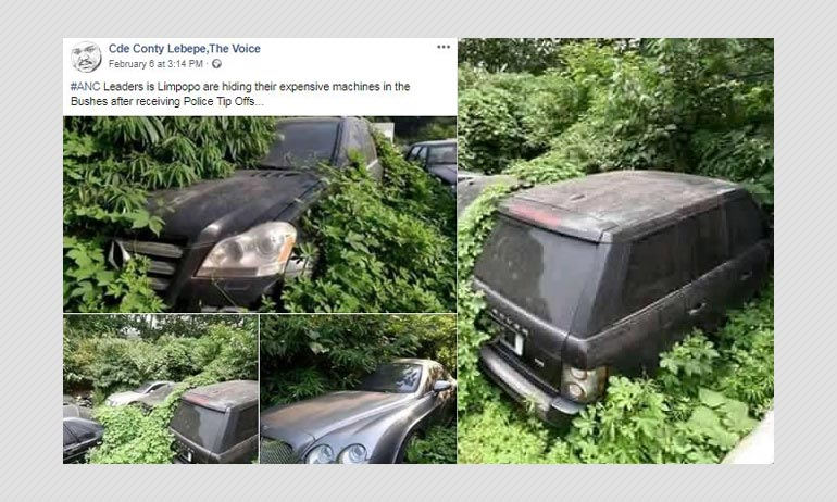 Did South African Leaders Hide Their Luxury Cars In Bushes?