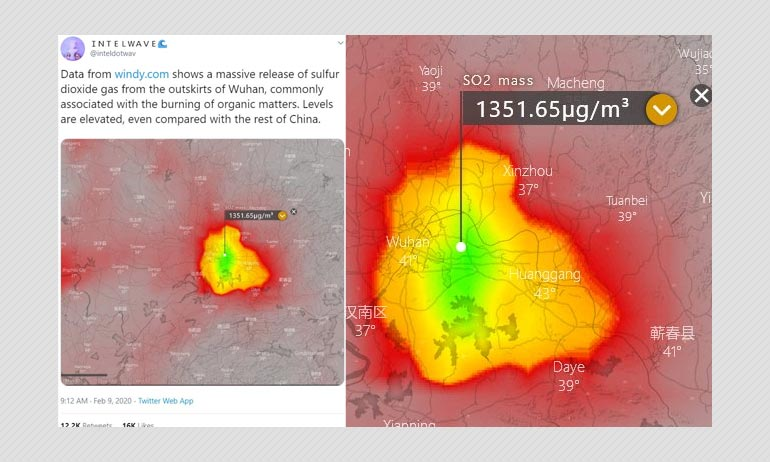 Did Sulphur Dioxide Levels Rise In Wuhan Post Coronavirus Outbreak?