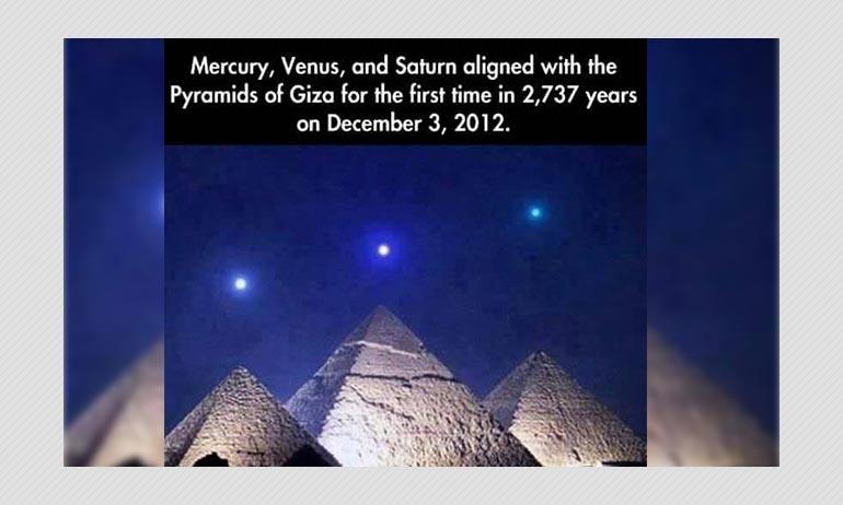 Edited Image Of Mercury, Venus And Saturn Over Pyramids Of Giza Viral