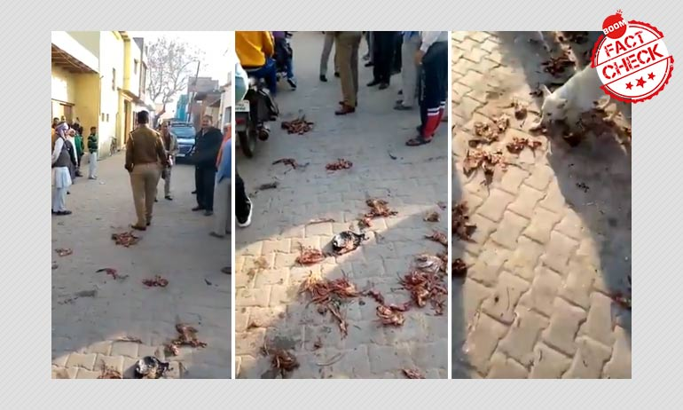 UP Police Debunk False Communal Claim About Meat Thrown At A Temple