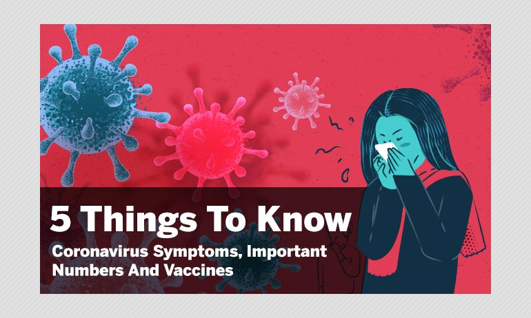5 Things To Know About Coronavirus Symptoms, Important Numbers And Vaccines