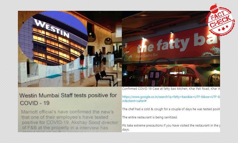Coronavirus Rumours Hit Mumbai Hotels Westin And Fatty Bao