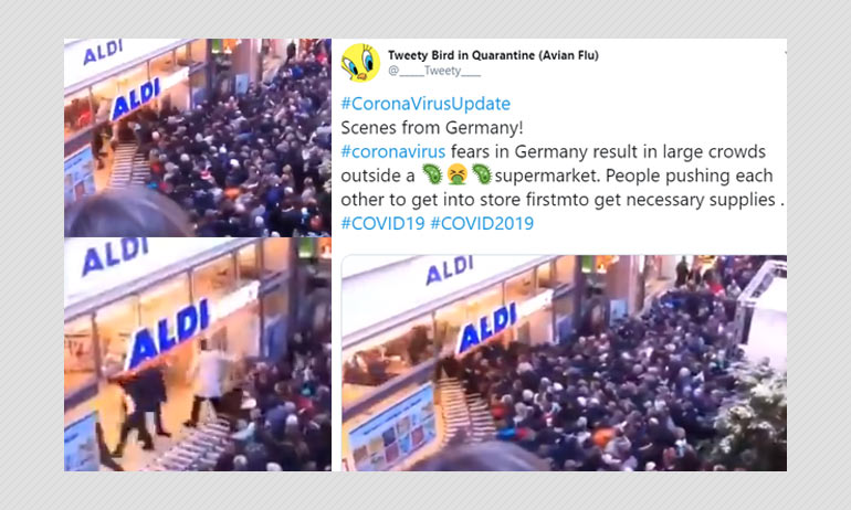 Old Video Shared As Novel Coronavirus Induced Panic Buying In Germany
