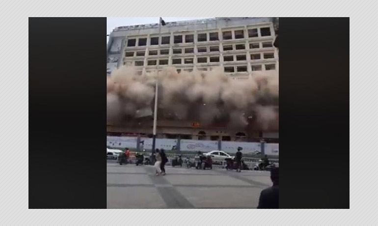 No, A Coronavirus Quarantine Hotel Did Not Collapse In China