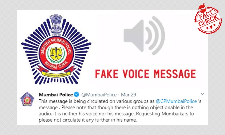 Mumbai Police Call Out WhatsApp Audio Clips Going Viral In Its Name.
