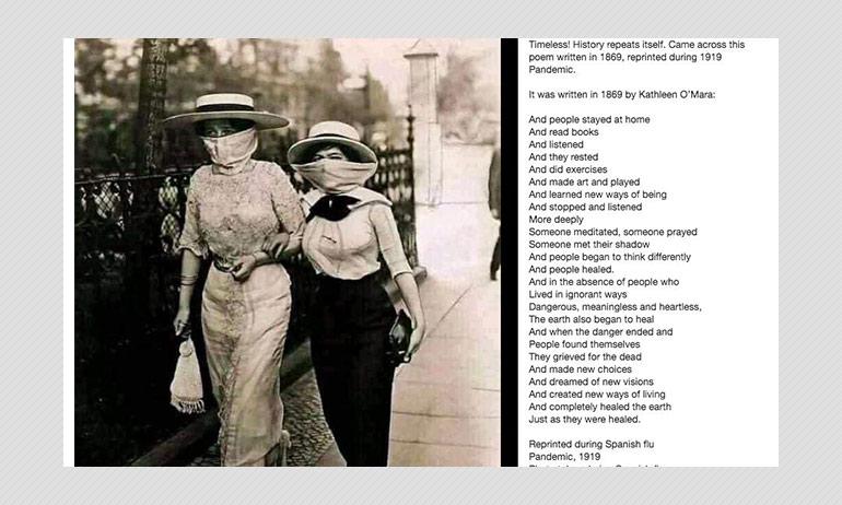 1869 Poem Reprinted During Spanish Flu Pandemic Resurfaces In 2020?