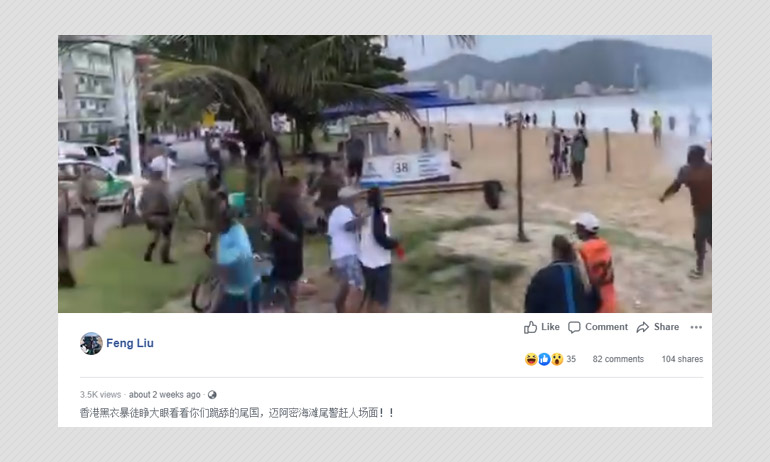Video From Brazil Shared As Miami Police Rounding Up Citizens On Beach