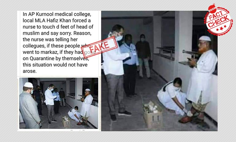 False: Kurnool MLA Hafeez Khan Forced Nurse To Apologise To A Cleric