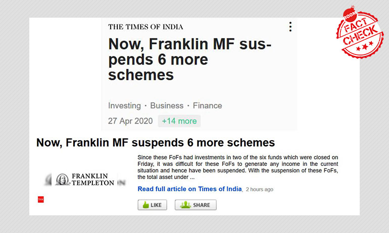 Franklin Templeton India Says It Is Not Shutting 6 More Funds