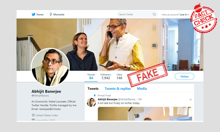 Imposter: Abhijit Banerjee On Fake Twitter Account Made In His Name