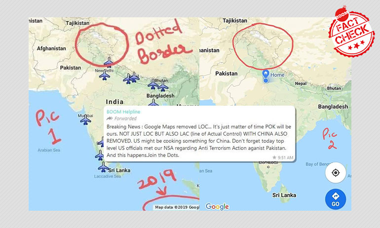 Did Google Maps Remove The LoC Between India And Pakistan? Fact-Check