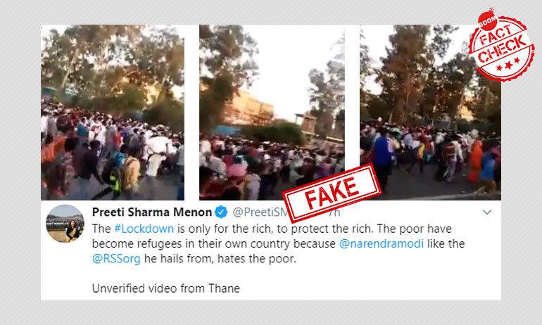 Video Of Migrant Workers At Delhis Anand Vihar Shared As Mumbai