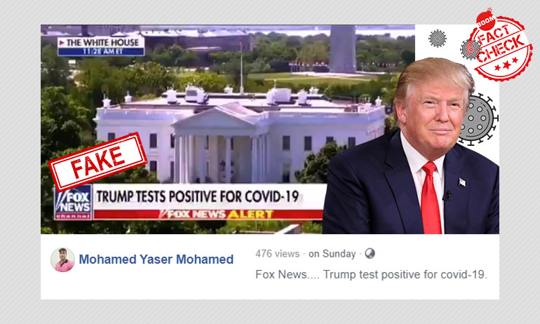 Fox News Clip About Trump Testing Positive For COVID-19 Is Doctored