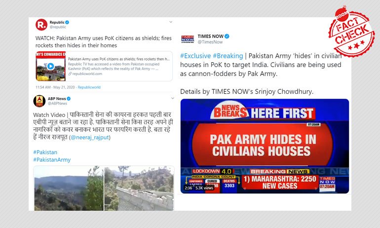 Republic TV, Times Now, ABP News Run Old Video As Pak Ceasefire Violation
