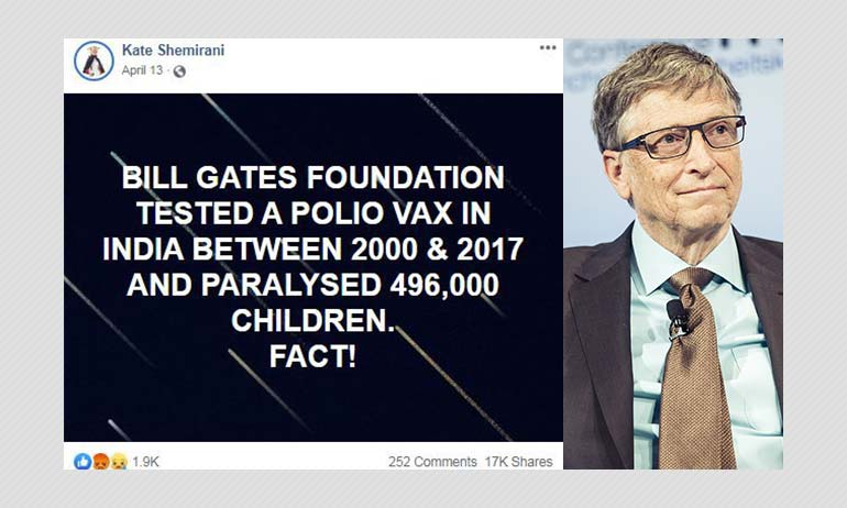 Did Bill Gates-backed Polio Vaccine Paralyse Children In India?