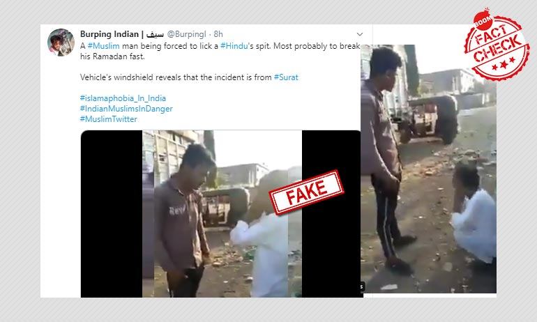 Gujarat: Video Of Man Forced To Lick Spit Peddled With Communal Claim