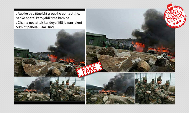 Dated Pics Shared With False Claim Of China Killing 158 Indian Soldiers