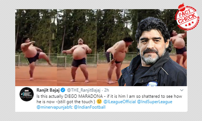 No, This Video Is Not Of An Obese Diego Maradona Kicking A Tennis Ball