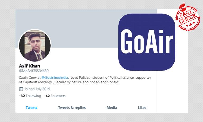 Suspended GoAir Staff Denies Posting Communal Tweet, Files Complaint