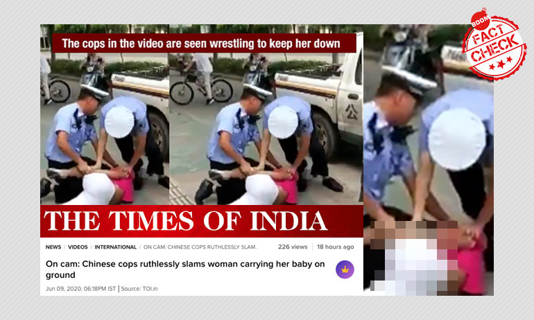 Times of India Runs 2017 Chinese Police Brutality Video As Recent