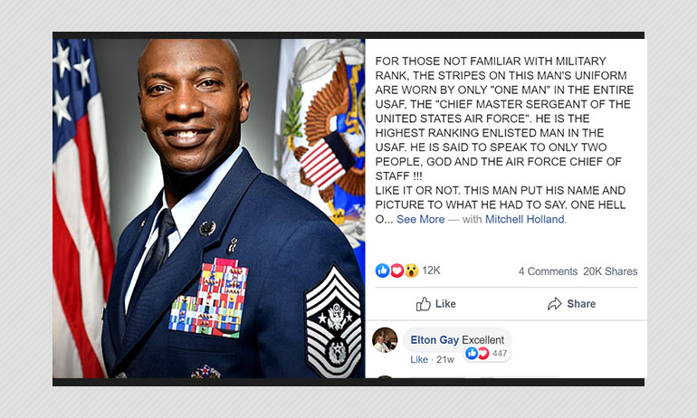 No, US Air Force Officer Did Not Write Facebook Post Praising Trump