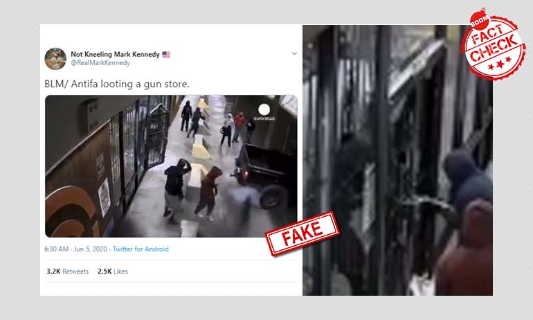2016 Gun Store Heist Video Falsely Linked To Black Lives Matter Protests