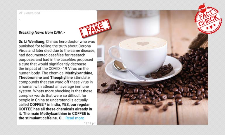 Viral Message Falsely Claims Coffee Can Cure COVID-19